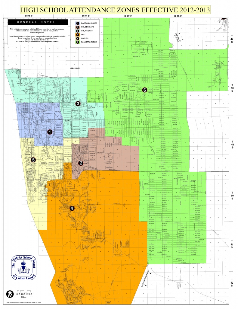 Naples School Districts Real Estate - Collier County Florida Map