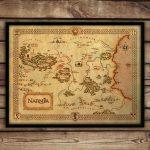 Narnia Map Narnia Art Print C S Lewis Fantasy Map | Etsy   Printable Map Of Narnia