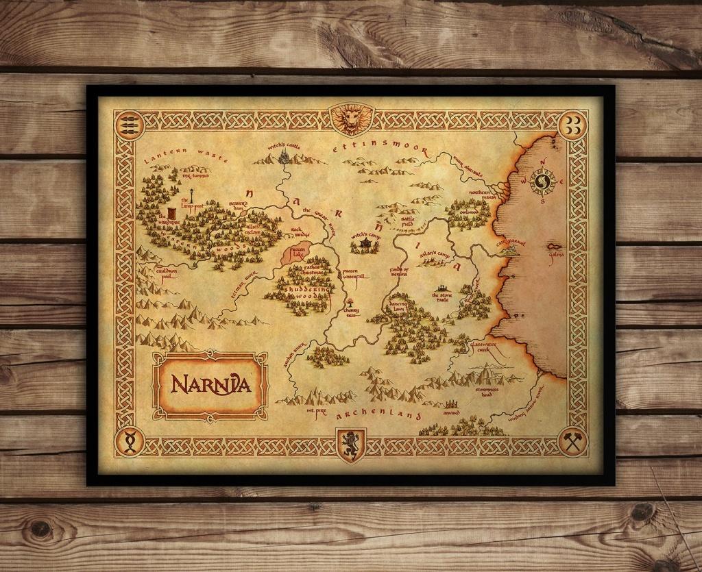 Narnia Map Narnia Art Print C S Lewis Fantasy Map | Etsy - Printable Map Of Narnia
