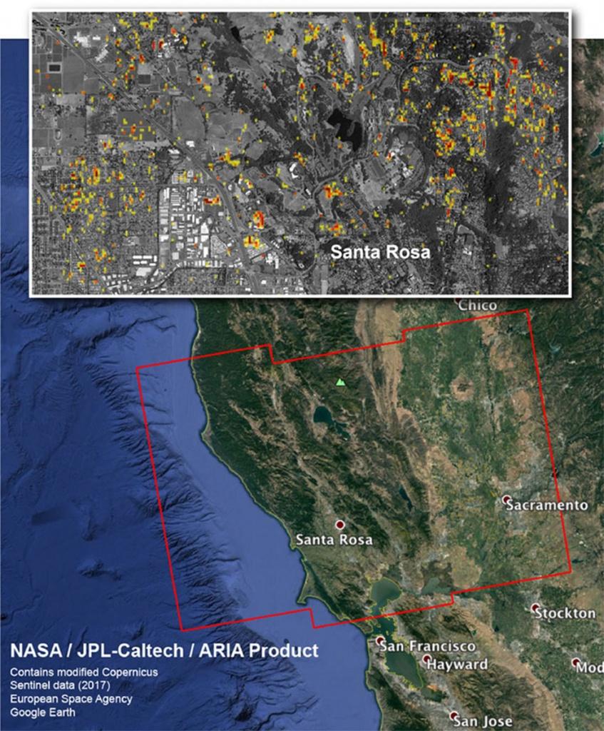Nasa Damage Map Aids California Wildfire Response | Nasa - Map Of California Fire Damage