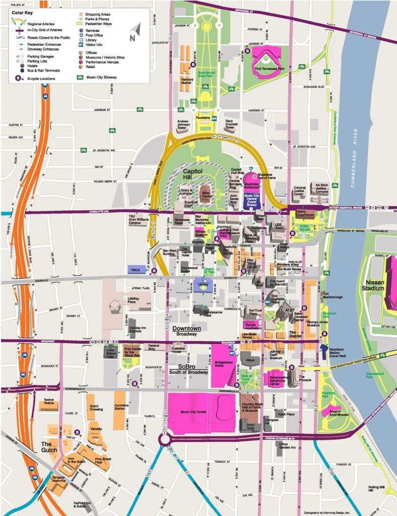 Nashville Maps | Tennessee, U.s. | Maps Of Nashville - Printable Map Of Nashville Tn