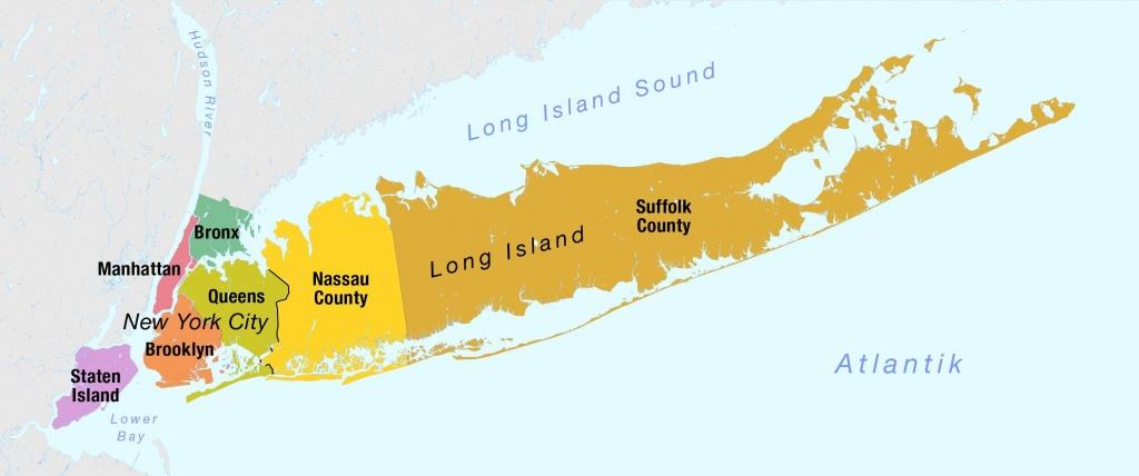 Nassau And Suffolk County Map - Nassau County Suffolk County Border - Printable Map Of Suffolk County Ny