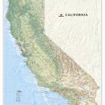 National Geographic Maps California State Wall Map   Wayfair   California State Map Pictures