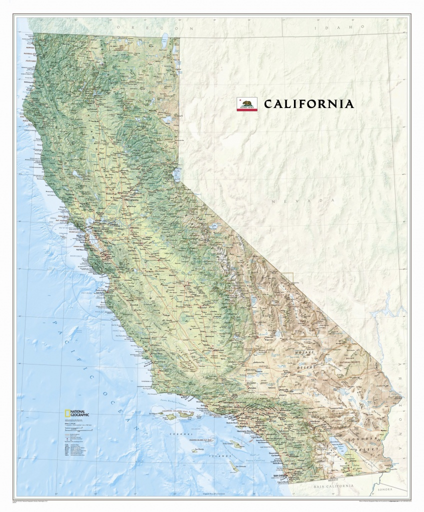 National Geographic Maps California State Wall Map | Wayfair - California State Map Pictures