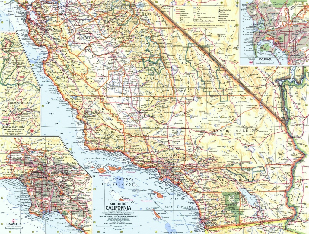 National Geographic Southern California Map 1966 - Maps - National Geographic Maps California