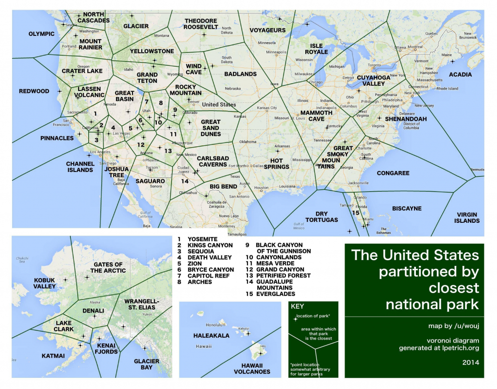National Park Map Of The Us Parks Map New Map California National - Printable Map Of Us National Parks