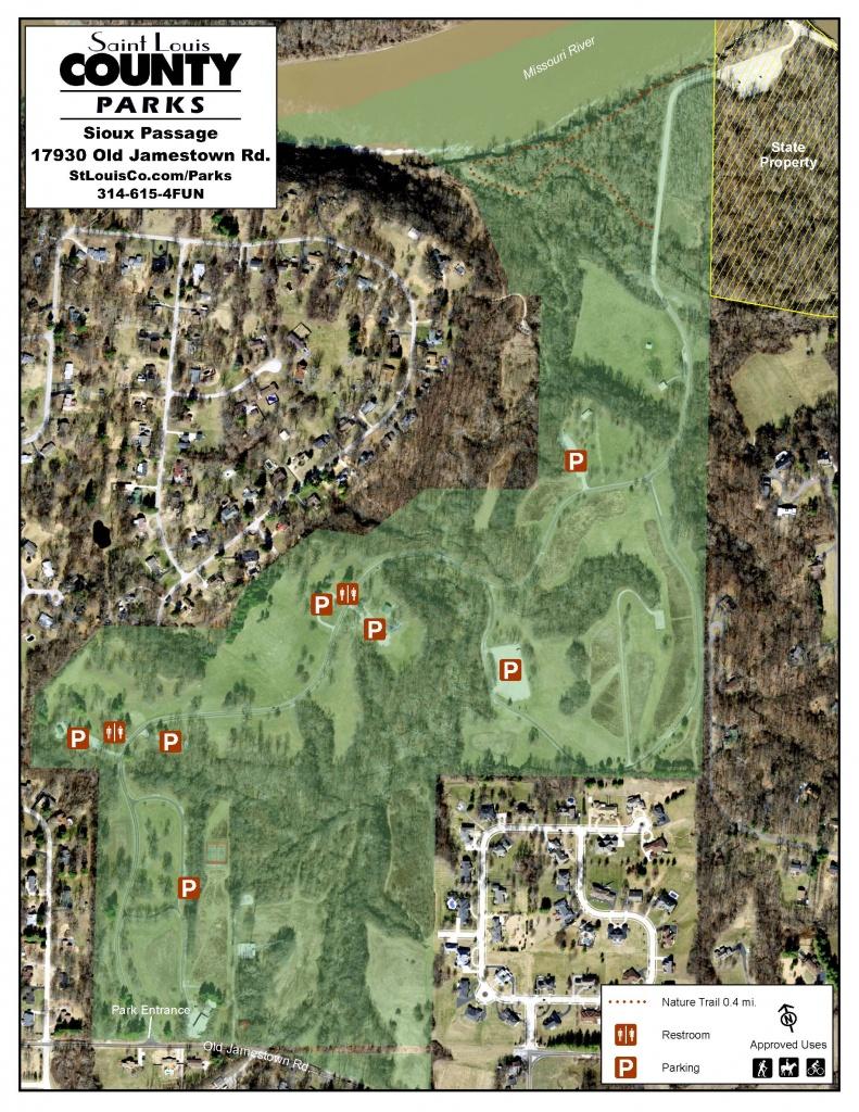 Nature Trail | Sioux Passage Park - Forest Park St Louis Map Printable