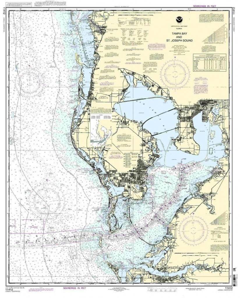 Nautical Map Of Tampa | Tampa Bay And St. Joseph Sound Nautical Map - Nautical Maps Florida