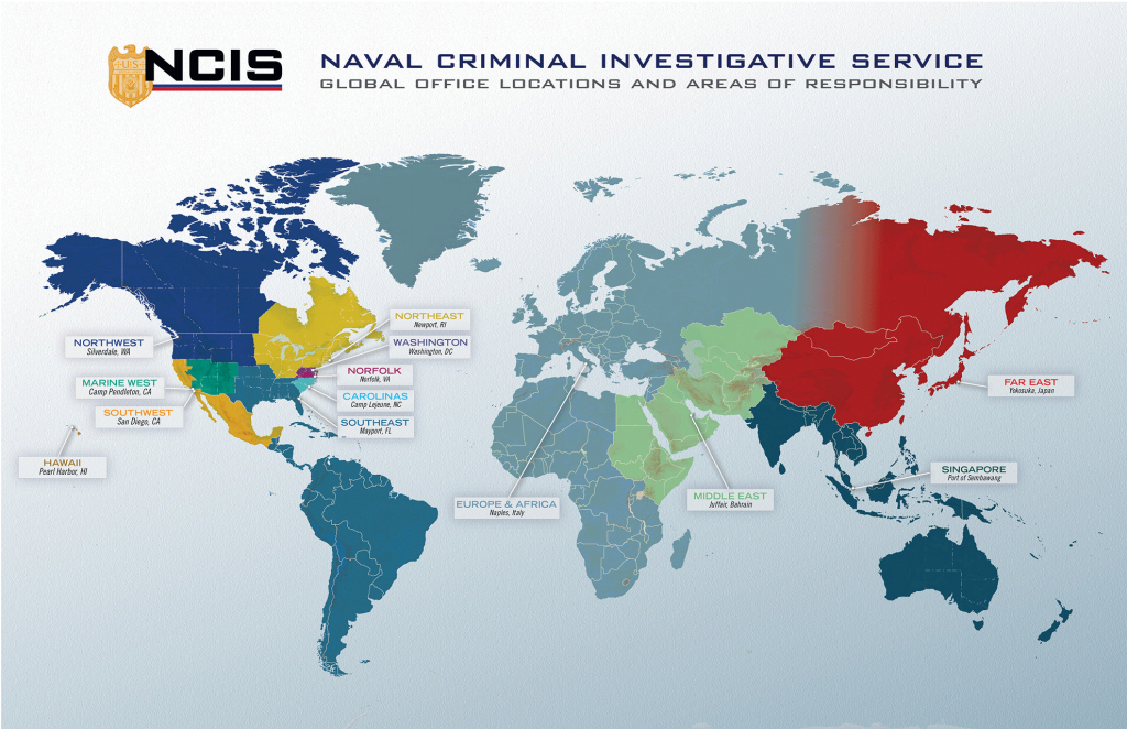 Ncis Locations - Map Of Navy Bases In California