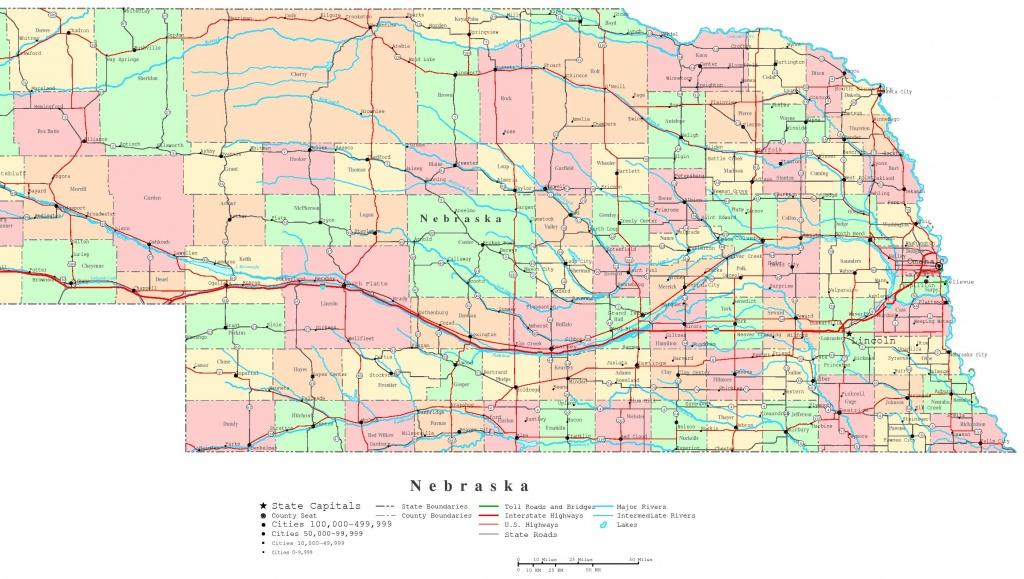 Nebraska Printable Map - Printable Road Map Of Nebraska