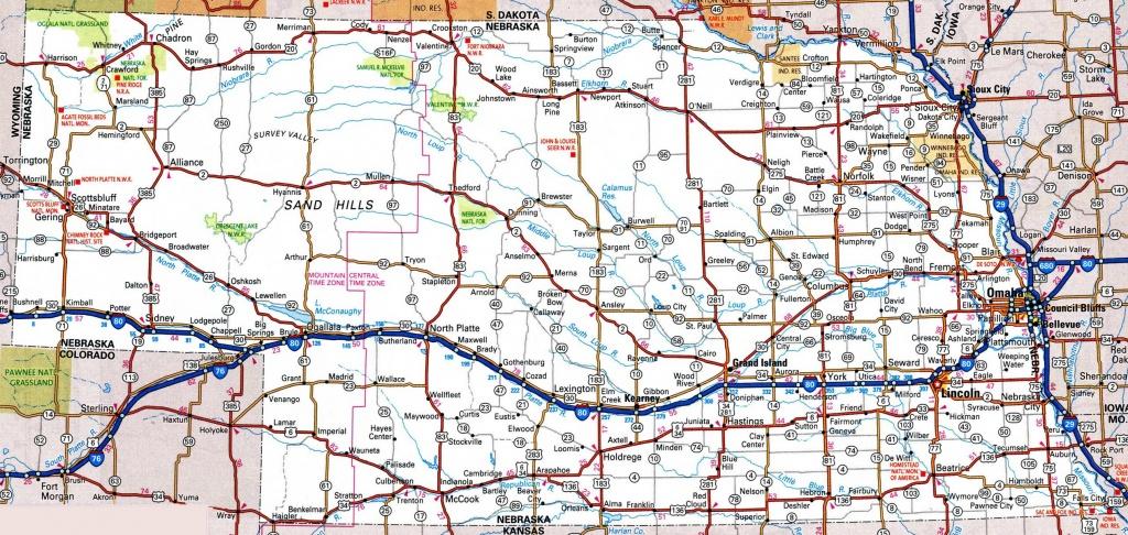 Nebraska Road Map - Free Printable State Road Maps