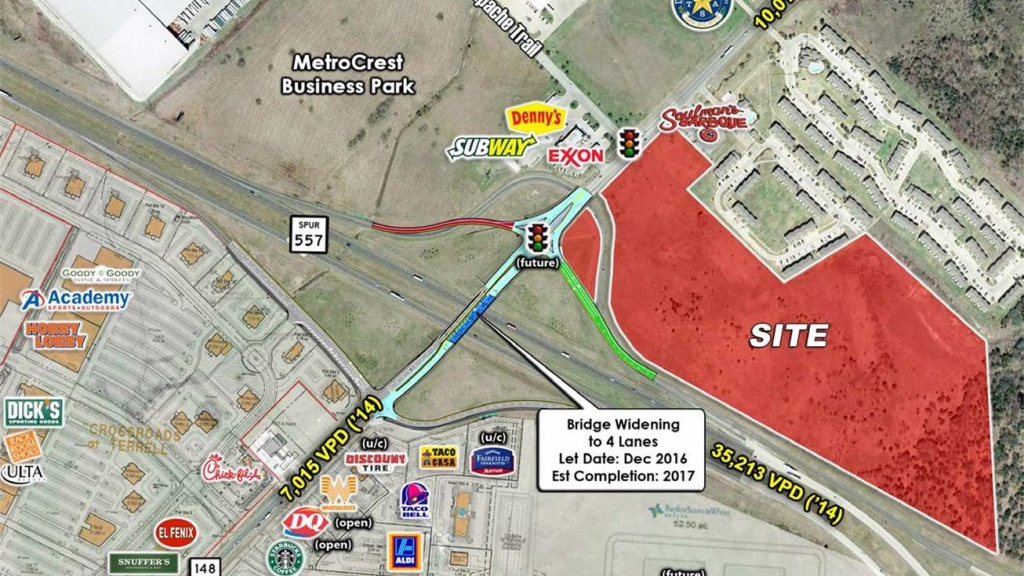 Nec Us 80 (Spur 557) & Fm 148, Terrell, Tx 75160 - Land For Sale - Terrell Texas Map