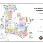 Neighborhoods Of Long Beach, California   Wikipedia   Long Beach California Map