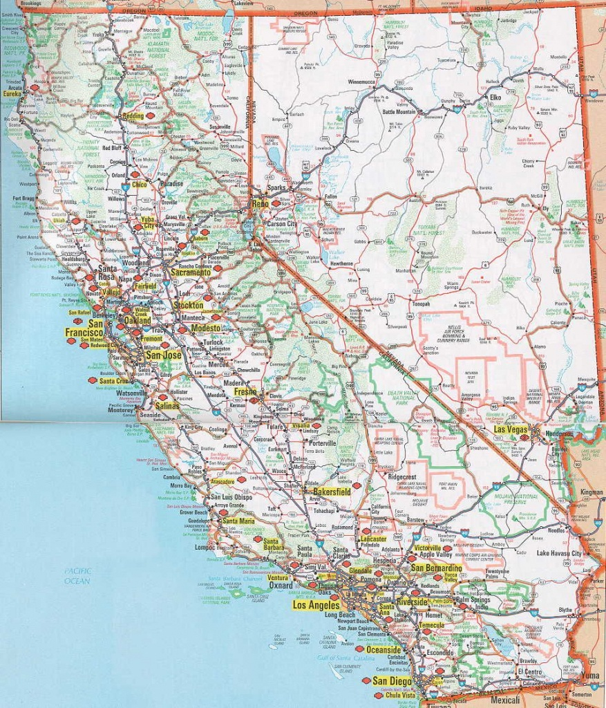 Nevada Road Map | Hognews Com Is Giving Free Listings To Local Clubs - Printable Road Map Of Southern California
