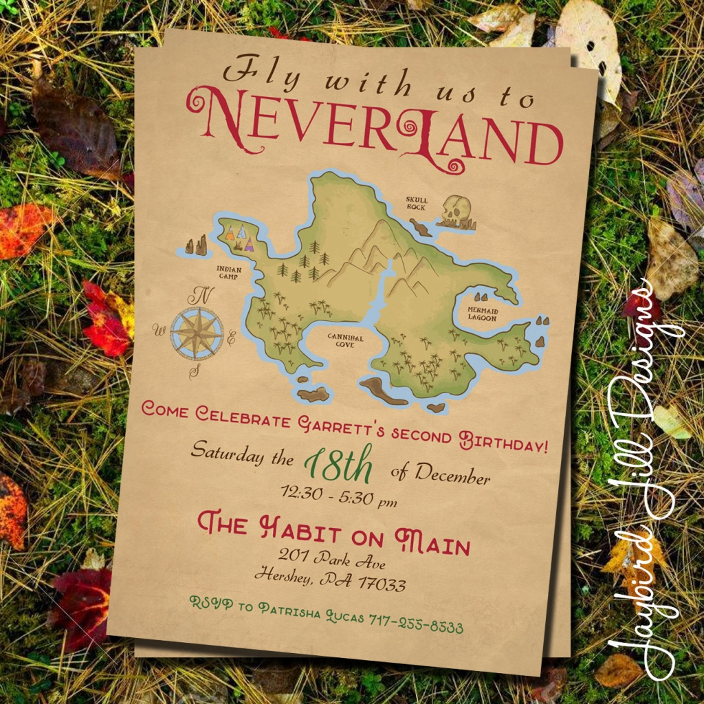 Neverland Birthday Party Invitation / Peter Pan Party /   Etsy - Printable Neverland Map