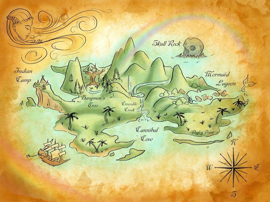 Neverland Mapmercedesjk.deviantart On @deviantart   Birthday - Printable Neverland Map
