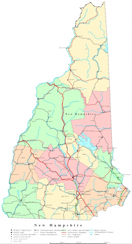 Printable Road Map Of New Hampshire