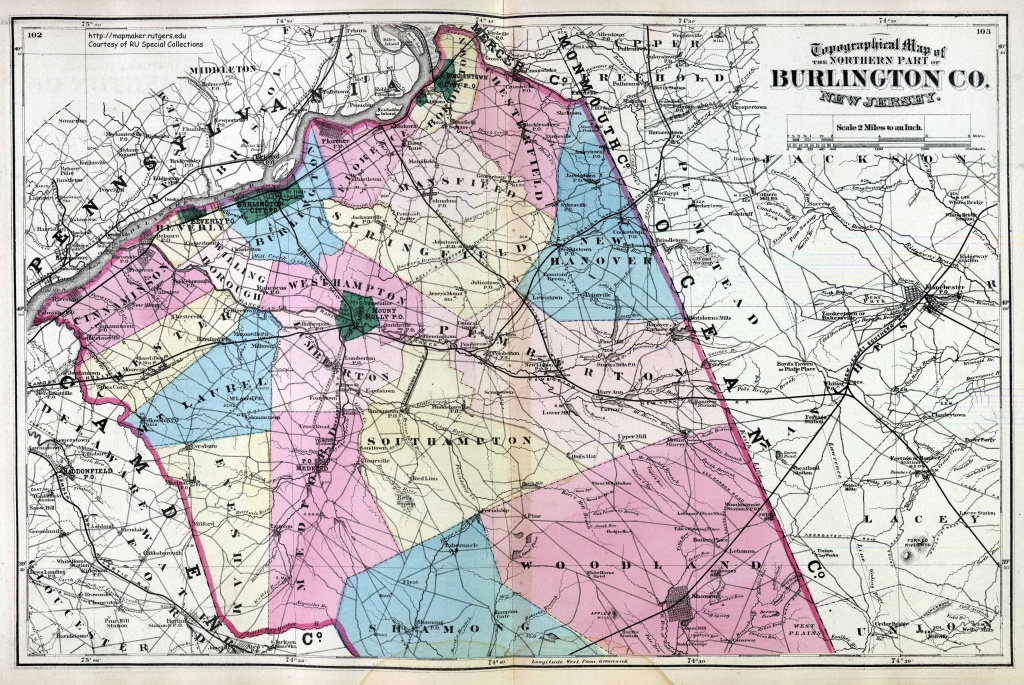 New Jersey Historical Maps - Printable Map Of Monmouth County Nj