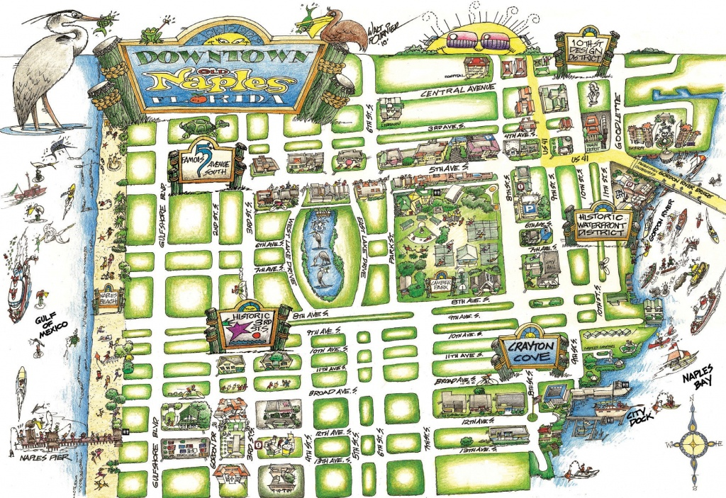 New Map Points The Way For Walking Around Naples   Naples Florida Weekly - Naples Florida Map