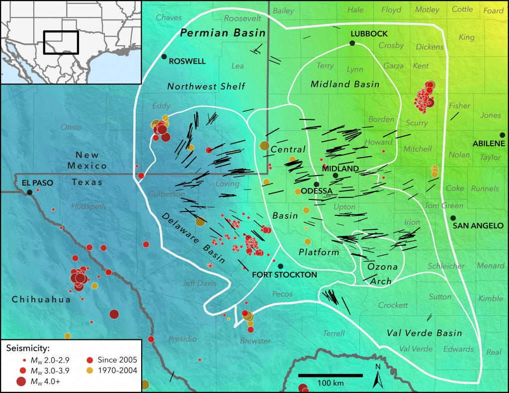 New Map Profiles Induced Earthquake Risk | Stanford News - Texas Wind Direction Map