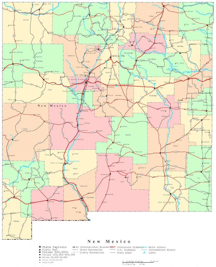 New Mexico Printable Map - Map Of New Mexico And Texas