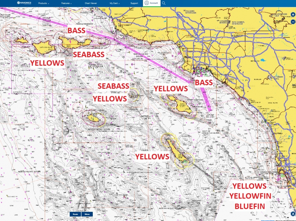 New Moon Improves Socal Offshore Fishing | Bdoutdoors - Southern California Fishing Map