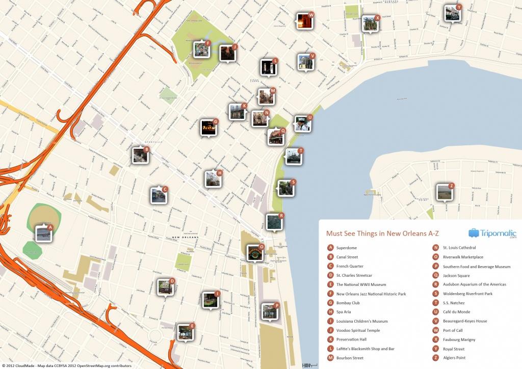 New Orleans Printable Tourist Map | Free Tourist Maps ✈ | New - Printable Walking Map Of New Orleans