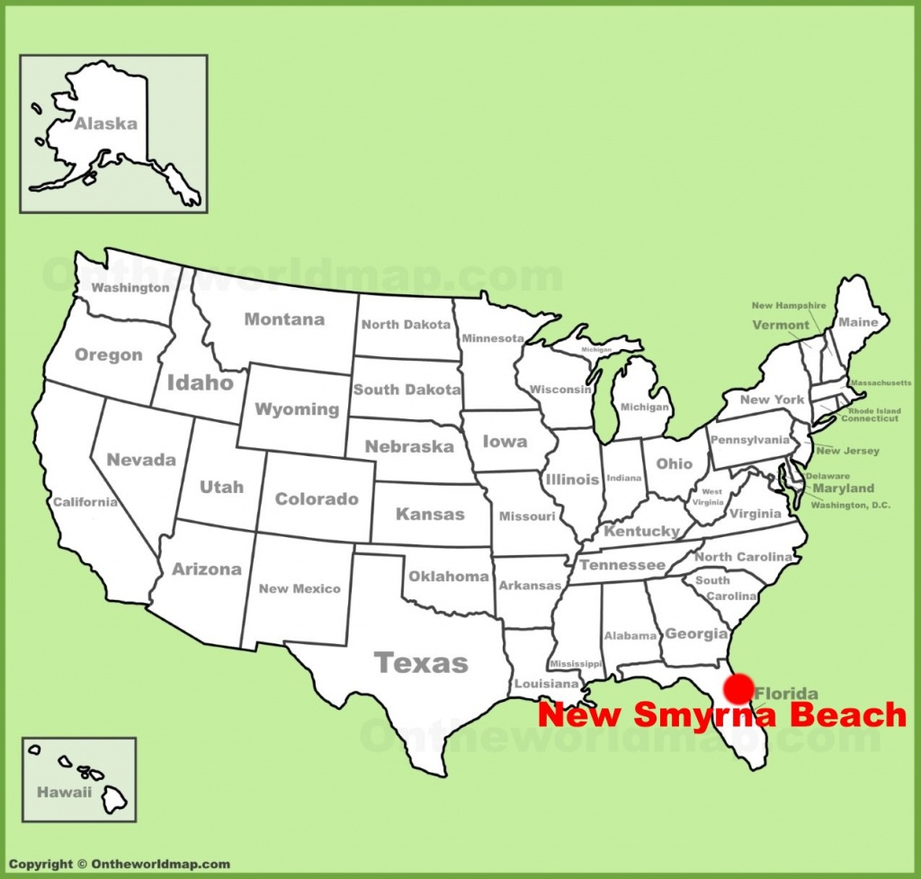 New Smyrna Beach Location On The U.s. Map - Smyrna Beach Florida Map