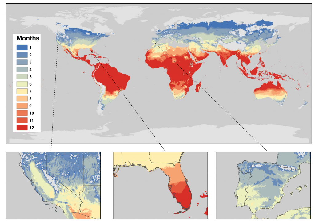 New Study Shows Where There May Be Establishment Of Citrus Greening - Florida Citrus Greening Map