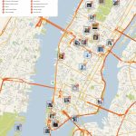 New York City Manhattan Printable Tourist Map | Sygic Travel   Free Printable Street Map Of Manhattan