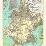 New York City Map Brooklyn Street Map Vintage | Etsy   Brooklyn Street Map Printable