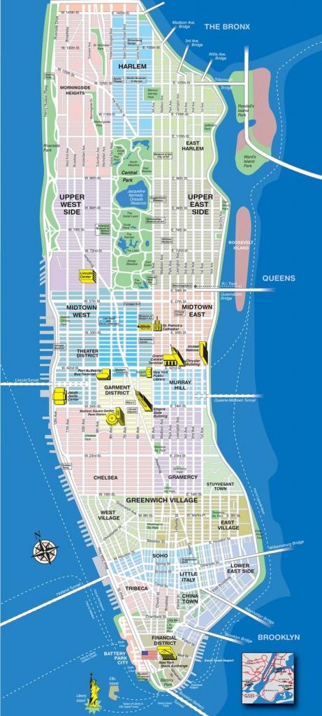 New York City Map Manhattan | Manhattan Tourist Map See Map Details - New York City Maps Manhattan Printable