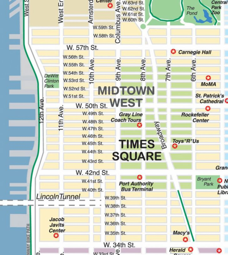 Printable Map Of Times Square