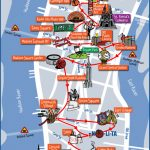 New York City Most Popular Attractions Map   Manhattan Sightseeing Map Printable