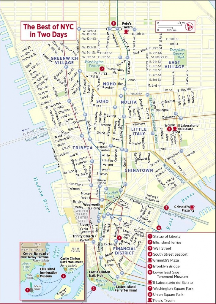New York City Tourist Map - 101 Vacation Destinations   Travel   New - Printable Map Of New York City