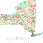New York Printable Map   Printable Map Of New York