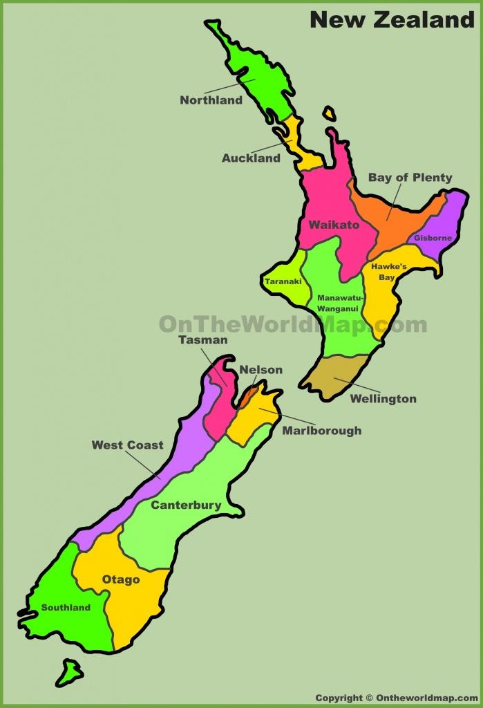 New Zealand Maps   Maps Of New Zealand - Printable Map Of New Zealand