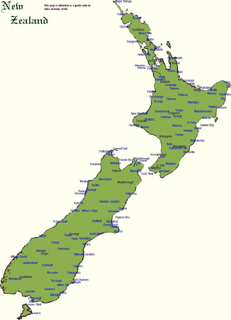 New Zealand Maps | Printable Maps Of New Zealand For Download - Printable Map Of New Zealand