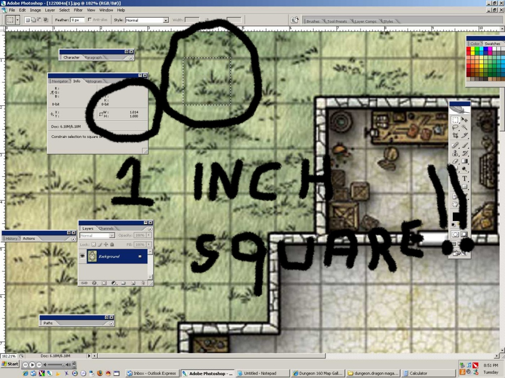 Newbiedm Tutorial – Printing Battle Maps To A 1″ Scale   Www. Newbie - D&d Printable Maps