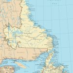 Newfoundland And Labrador Road Map   Printable Map Of Newfoundland
