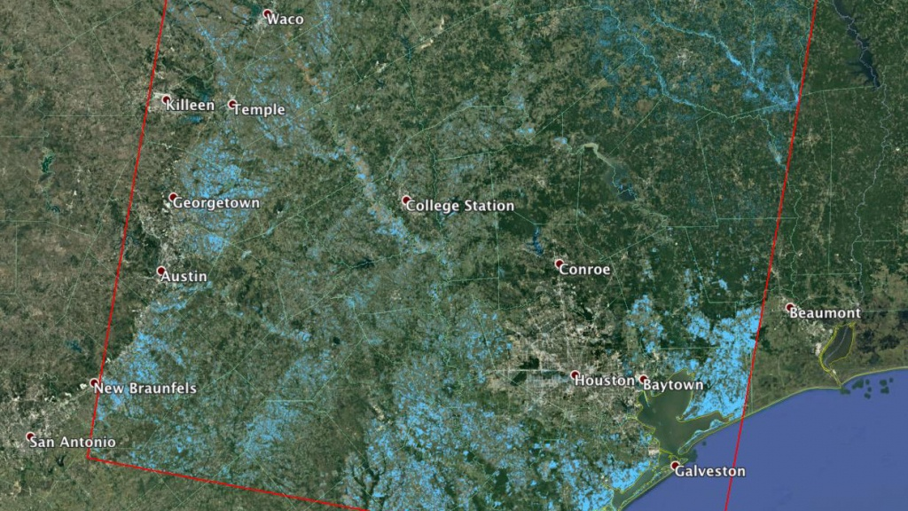 News   Nasa Working With Partners To Provide Harvey Response - Conroe Texas Flooding Map