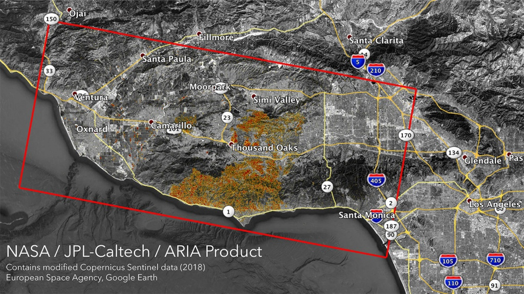 News | Nasa's Aria Maps California Wildfires From Space - Map Of Northern California Campgrounds