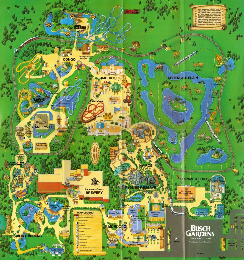 Newsplusnotes: From The Vault: Busch Gardens Tampa 1995 Map - Busch Gardens Florida Map
