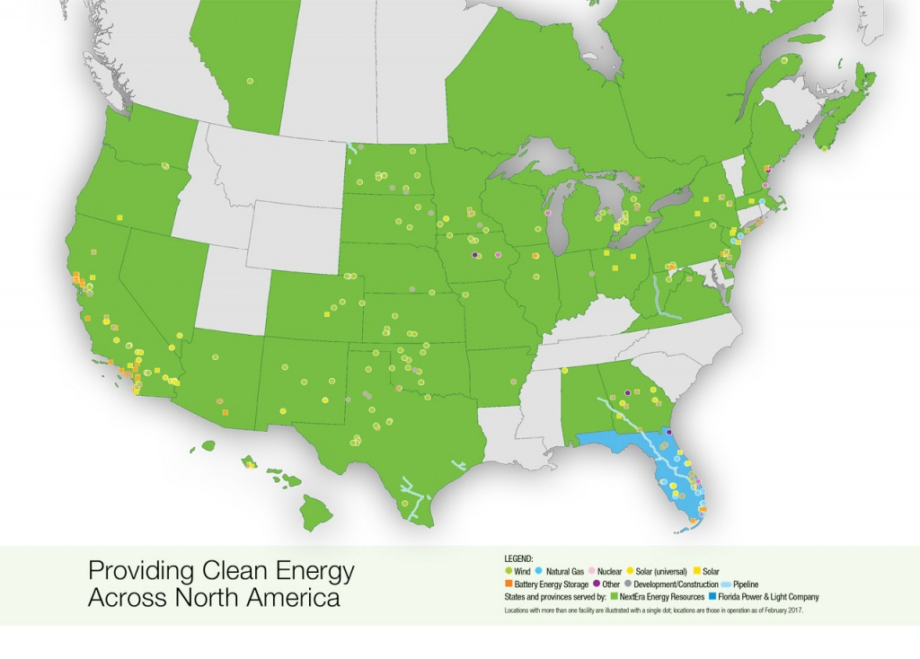 Nextera Energy Resources | Locations Map - Florida City Gas Coverage Map