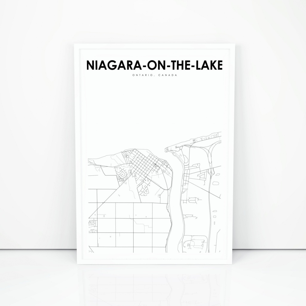 Niagara-On-The-Lake Map Print Ontario On Canada Map Art | Etsy - Printable Map Of Niagara On The Lake
