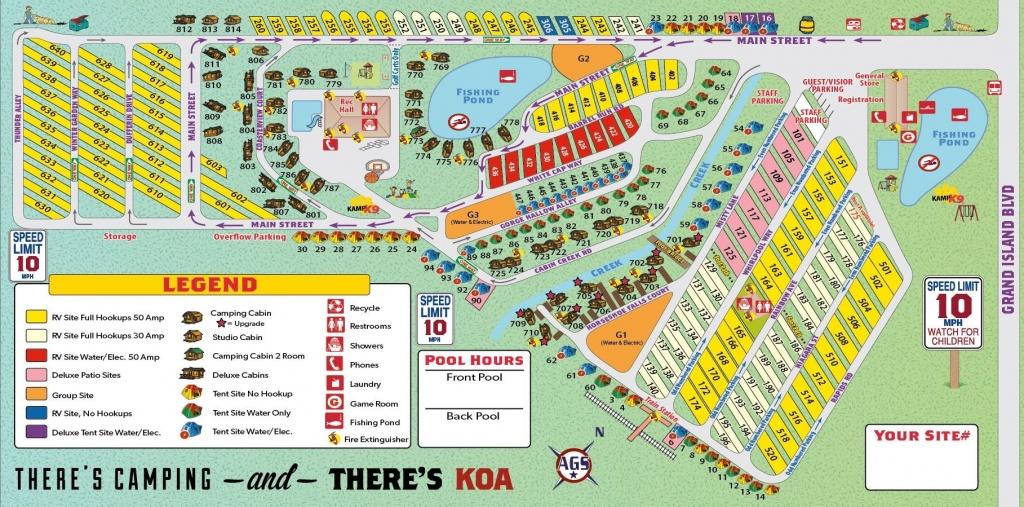 Niagra Falls Koa Campground Site Map | Camping | Outdoor Camping - Map Of Koa Campgrounds In Florida