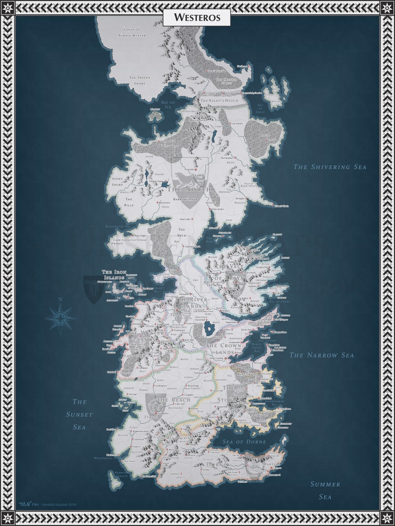 No Spoilers] Westeros Map : Gameofthrones - Printable Map Of Westeros