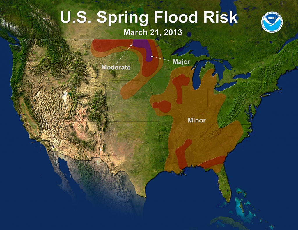 Noaa Predicts Mixed Bag Of Drought, Flooding And Warm Weather For - Spring Texas Flooding Map