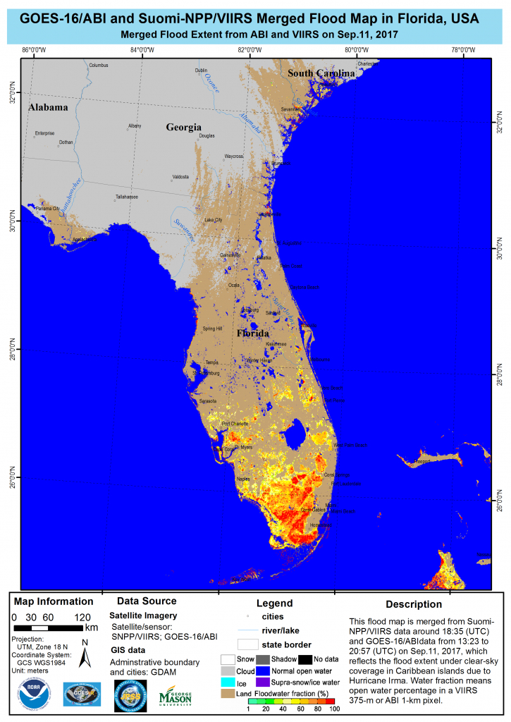 Noaa Satellites And Aircraft Monitor Catastrophic Floods From - Florida Flood Plain Map