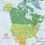 North America Political Map, Political Map Of North America   North America Political Map Printable
